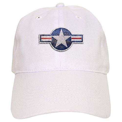 LUDEM USAF US Air Force Roundel Cap - Baseball Cap with Adjustable Closure, Unique Printed Baseball Hat