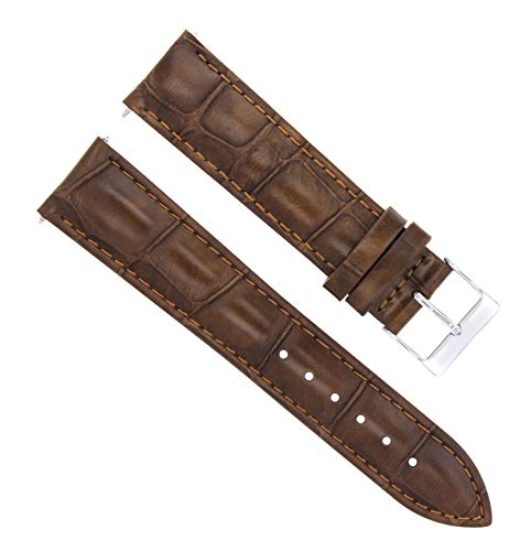 Strap Bulova Brown - 17-18-19-20-21-22-23-24MM Genuine Leather Watch Band Strap for BULOVA Light Brown