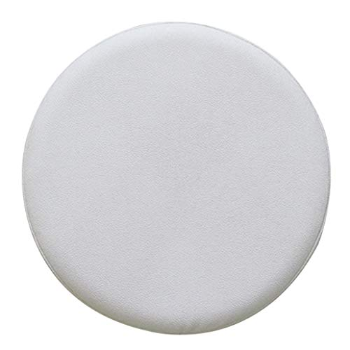 Round Stool Chair Cover Stretch Faux Leather Waterproof Slipcover for Bar Party Salon Decor (Set of 2)