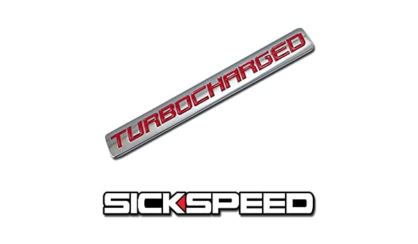 Amazon.com: Chrome/Red Metal Turbocharged Engine Race Motor Swap Badge For Trunk Hood Door for Honda Prelude: Automotive