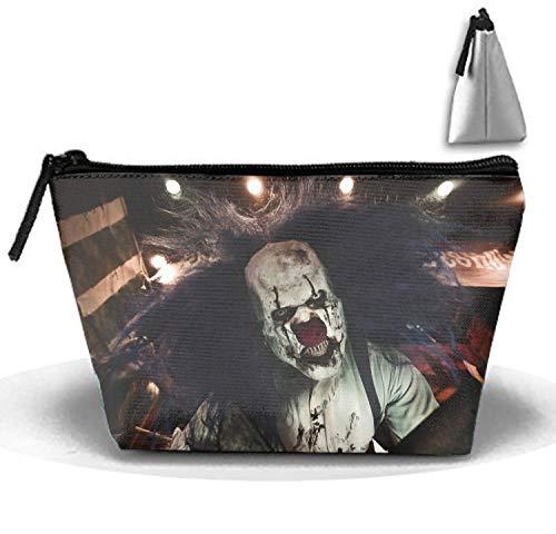 Dark Clown Creepy Halloween Cosmetic travel Bag, Waterproof