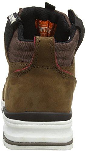 de Scruffs EU hombre seguridad amarillo color 42 Marrón 8 Sb P UK talla para Switchback Zapatos q7rHwI7