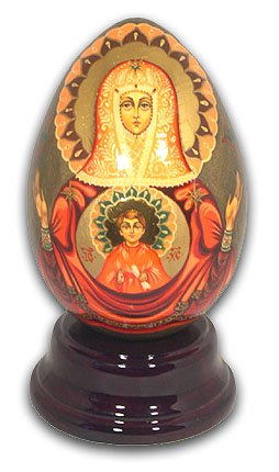 Madonna Hand Painted Reuge Musical Egg, Gorgeous - Send in the Clowns by MusicBoxAttic