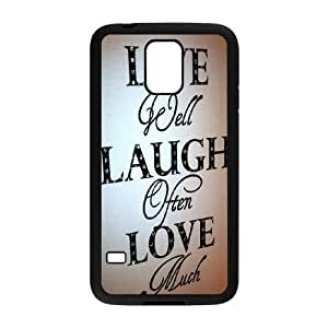 Samsung Galaxy S5 Phone Case Black Live Laugh Love NLG7858461