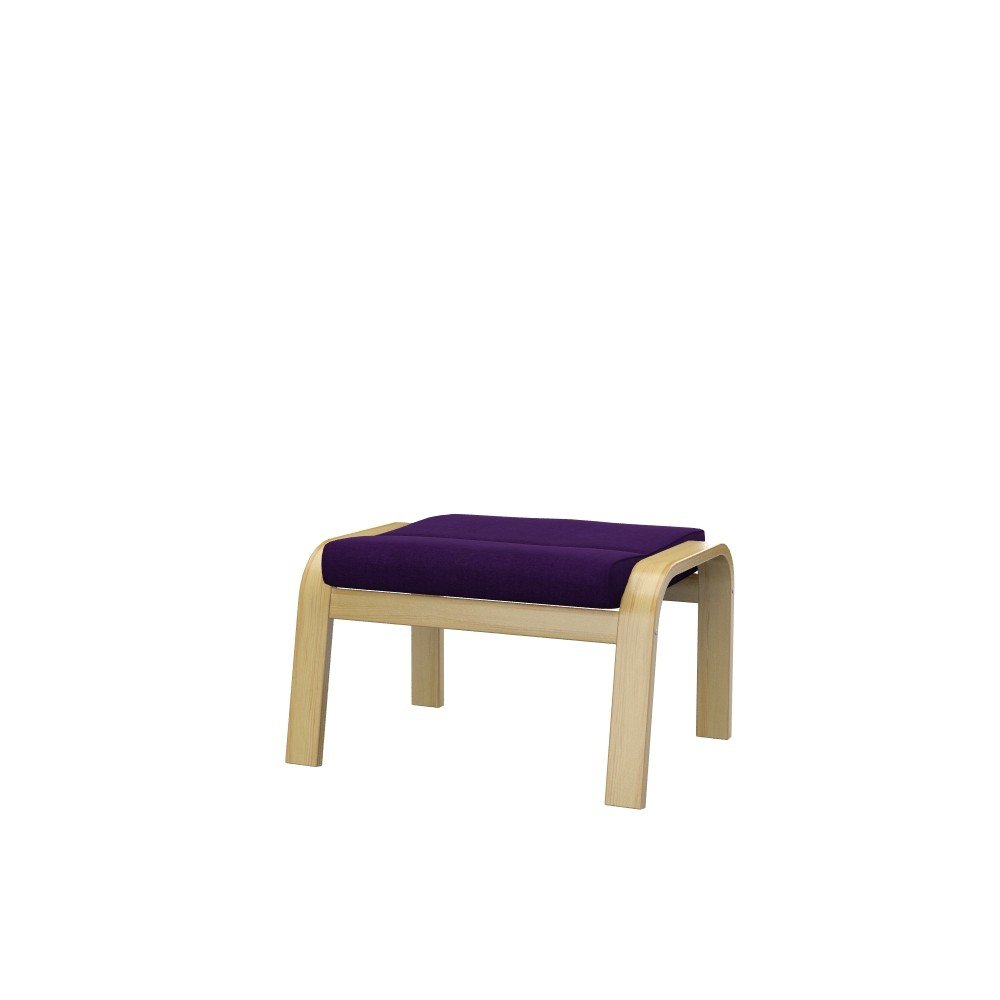Soferia - Replacement cover for IKEA POÄNG footstool, Elegance Purple by Soferia