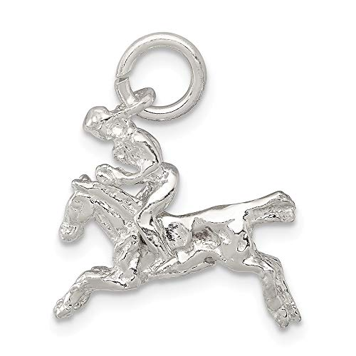 925 Sterling Silver Moveable Bronco Pendant Charm Necklace Western Fine Jewelry Gifts For Women For Her ()