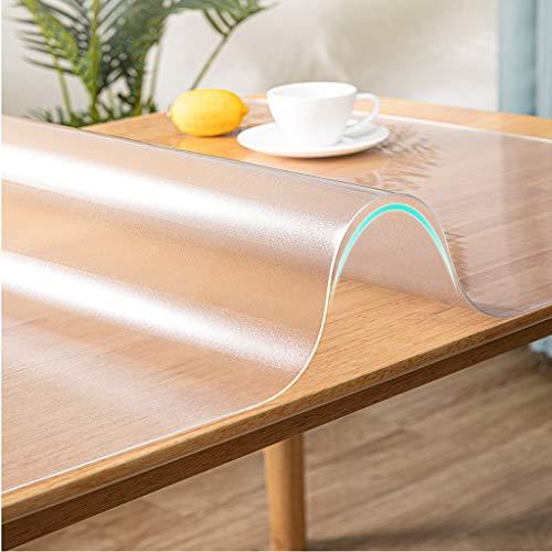Bordsduk i plast, bordsduk med flera storlekar – PVC-vinyltoppskydd för rektangulärt skrivbord, träbordsskydd för matbord – slitstark bordsduk 3 mm (storlek: 80 x 135 cm)