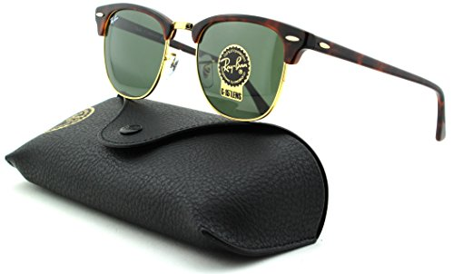 Ray-Ban RB3016 Clubmaster Unisex Sunglasses (Tortoise Arista Frame/Crystal Green Lens W0366, - W0366 Clubmaster Rb3016 Ban Ray
