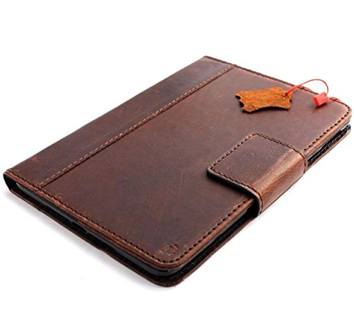 Genuine Natural Leather Handmade Case for Apple Ipad Mini 4 Air Cover Stand Luxury Credit Cards Slots JP DavisCase