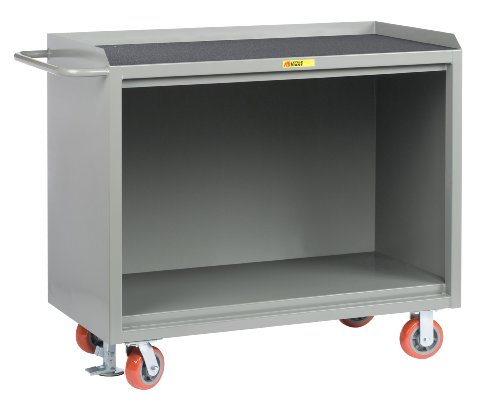 Little Giant MM-2448-FL 48-inches Wide Mobile Bench Cabinet with Non-Slip Vinyl Top, 3600 lbs Capacity, 48