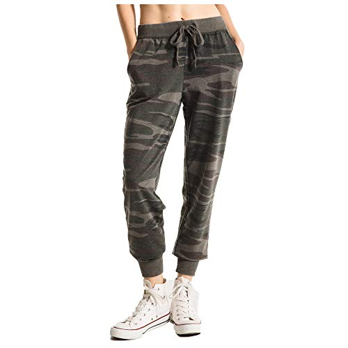 Z SUPPLY Clothing Women's The Camo Jogger Relaxed Fit Pant, Camo Forest Green (CMOFRSTGRN/CFG), ()