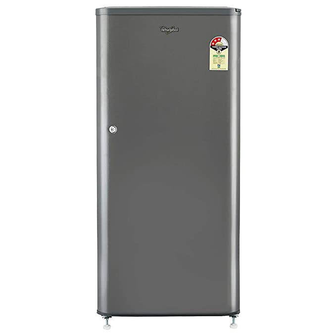 Whirlpool 190 L 3 Star  2019  Direct Cool Single Door Refrigerator WDE 205 CLS 3S GREY E, Grey  Refrigerators