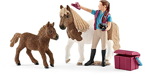 (Schleich Stablehand with Shetland Ponies Playset)
