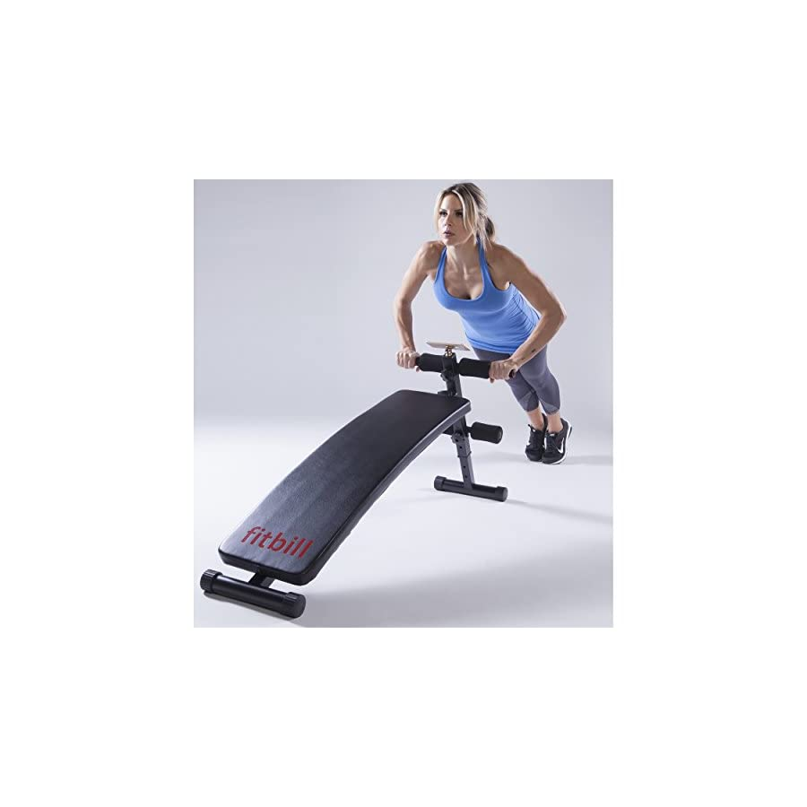 fitbill Sit Up Decline Bench with Workout App