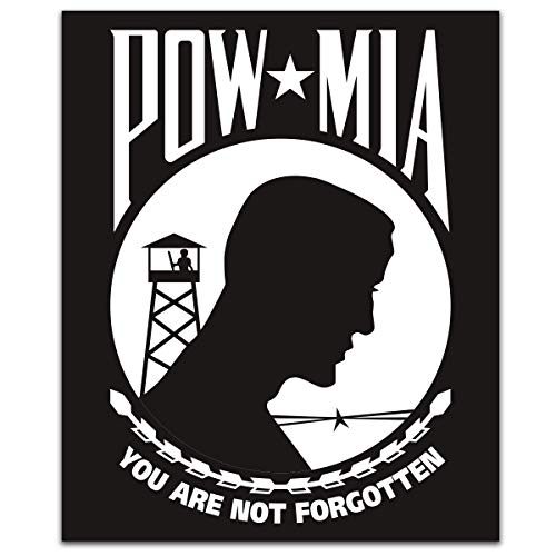 POW MIA You are Not Forgotten 2-Pack Decal Sticker | 3-Inches by 2.5-Inches | Premium Quality Vinyl | NI099
