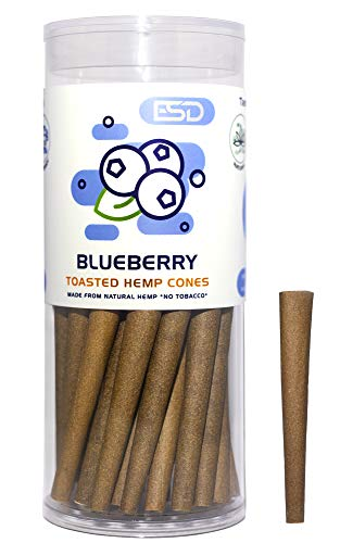 Cyclones Blueberry Flavored Pre Rolled Hemp Wraps | 50 Pack | Natural Organic Prerolled Wraps with Packing Sticks Included for Efficiency