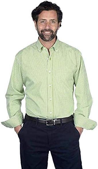 Camisa Manga Larga, con Cuadros Vichy de Color Verde Manzana - 6_2XL, Verde Claro: Amazon.es: Ropa y accesorios