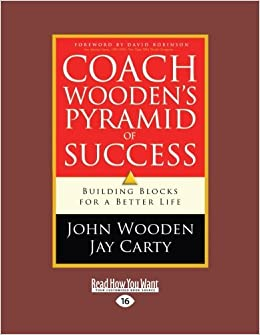 Amazoncom Coach Woodens Pyramid Of Success Building Blocks For A