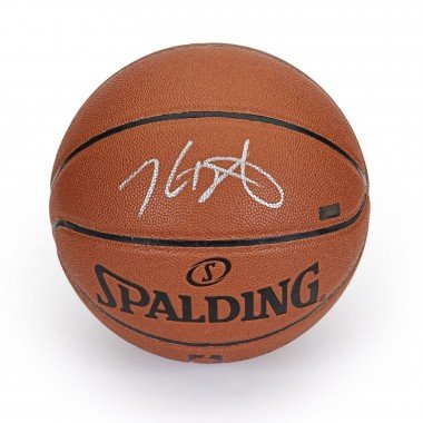 Basketball Signature Silver (KEVIN DURANT Autographed in Silver Spalding Replica Basketball PANINI)