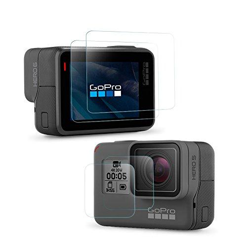 Simpeak Protector de Pantalla GoPro Hero 6 Hero 5 [2-Pack], Cristal Templado GoPro Hero 5 / Hero 6 con 9H Screen Protector Películas Protectoras