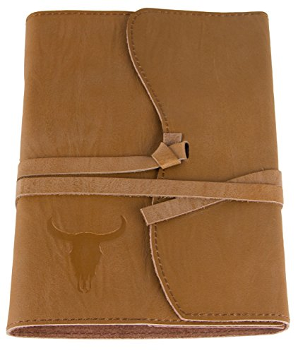 """Red Co Genuine Leather Journal, 5""""x7"""", 240 Lined Pages Bookbound, Refillable, Saddle Brown"""