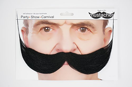 Mustaches Self Adhesive, Novelty, Fake Fisherman's, Black Color by Mustaches (Image #5)