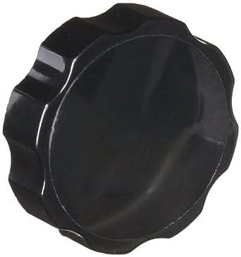 "DimcoGray Black Phenolic Fluted Torque Knob Female, Brass Insert: 5/16-18"" Thread x 3/8"" Depth, 1-3/4"" Diameter x 3/4"" Height x 3/4"" Hub Dia (Pack of 10)"