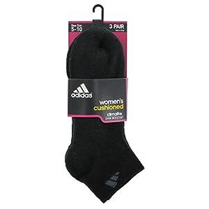 adidas Women's Cushioned 3pk Low Cut Sock Black