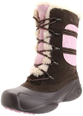 Columbia Sportswear Heather Canyon Winter Boot (Toddler/Little Kid/Big Kid),Turkish Coffee/Pink Lady,5 M US Big Kid