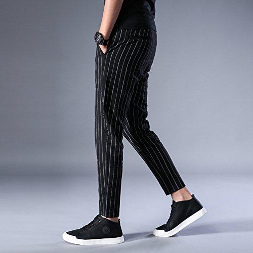 De alta calidad Xinwcang Hombres Moda Pantalones de Chándal Casuales Slim  Fit Running Yoga Deportes Chino 6f581dc20434