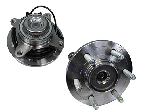 (Detroit Axle - Front Wheel Hub and Bearing Assembly Pair for -6-Lug 4x4 - [2011-2014 Ford Expedition, F-150 - Lincoln)