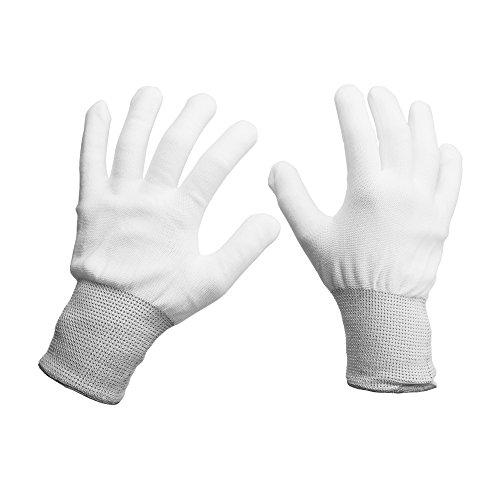7MO Vinyl Appliation Cotton Gloves Anti-Static for Vinyl Film Wrapping (4 Pair, White)