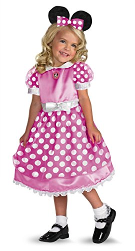 Pink Minnie Mouse Girls Costumes (Minnie Mouse Clubhouse  - Pink Costume - Medium (3T-4T))