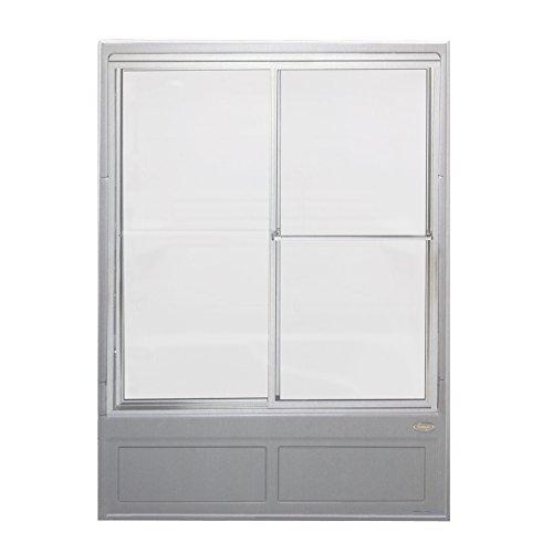 Jacuzzi J925865 Vintage Frosted Glass Shower Steam Enclosure, Chrome (Jacuzzi Shower Enclosures)