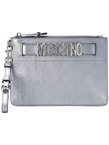 Argent MOSCHINO Cuir Pochette A843380110600 Femme wSqv4FC