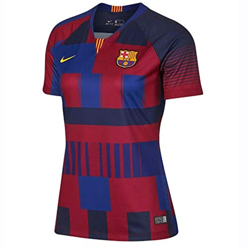 Nike 2018-2019 Barcelona Anniversary Ladies Football Soccer T-Shirt Jersey