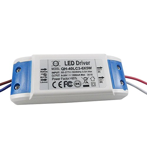Nagulagu LED Driver Output 9-20V 1.5A Constant Current Power Supply for 50W IR Infrared LED Lamp DIY