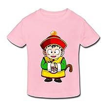 RenHe Toddler Funny Dragon Ball Kid Gohan T-shirts Size 4 Toddler LightPink