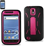 CASE FOR SAMSUNG EPIC GALAXY SII T989 for T-mobile WITH Adjustable Stand Two piece case Hard Shell that Protect your phone and soft Silicone for (BLACK/PINK)