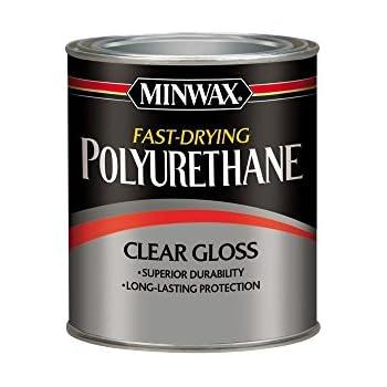 Minwax 63000 Fast Drying Polyurethane Clear Gloss, Quart