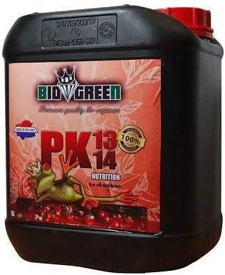 Fertilizante PK 13/14 Especial para Cultivos de Cannabis y Marihuana. Mejora su Crecimiento y Floración. No Sulfurada. Producto CE. 5 LITROS