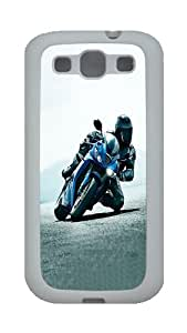 ICORER Unique Samsung Galaxy S3 Cases Motorcycle Sport Competition TPU White Case Cover for Samsung Galaxy S3
