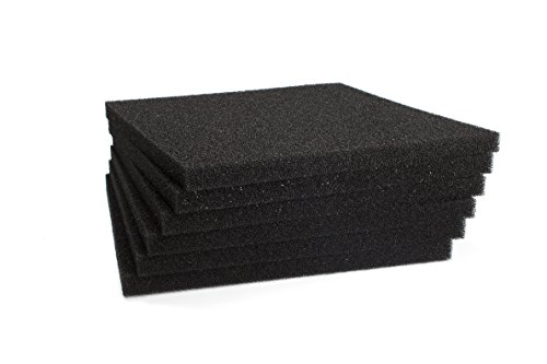 LTWHOME Black Foam Filter Pad Fit for Danner PM 1000 and PM 2000(Pack of 12)