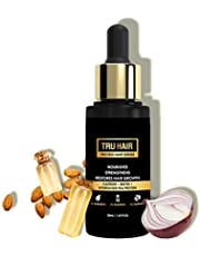 Tru Hair Protein Serum With Onion Extract, Biotin, Caffiene Fights Hair Thinning, Promotes Thicker Hair |Natural, Vegan and Free from Parabens, Sulphates and LLPs - 50 Ml