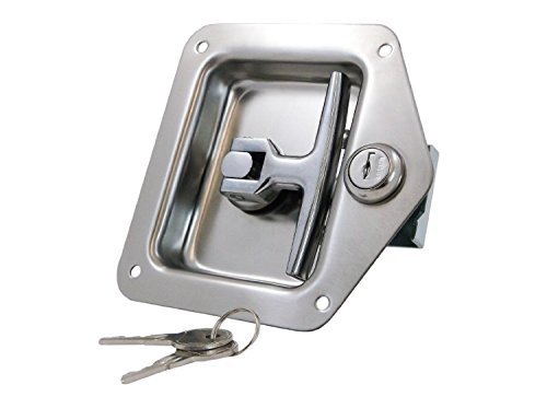 Rv Door Tool Box Lock with Gasket T-handle Latch with Keys 304 Stainless Steel Highly Polished Work Truck (Key Lock Tool Box)