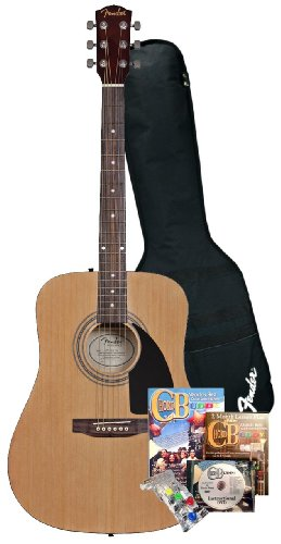 Fender Beginner Acoustic Guitar and ChordBuddy Guitar Learning System and Practice Aid