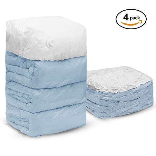 Best Quality - Storage Bags - PCS Cube Vacuum Storage Bags Jumbo Extra Large Compressed Space Saver Bags for Pillows for Comforter Work with All Cleaner - by Jhin Stella - 1 PCs