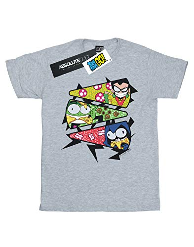 Comics Pizza Teen Boy Grey Slice de deportiva Titans Go Camiseta Dc Uw8ttA