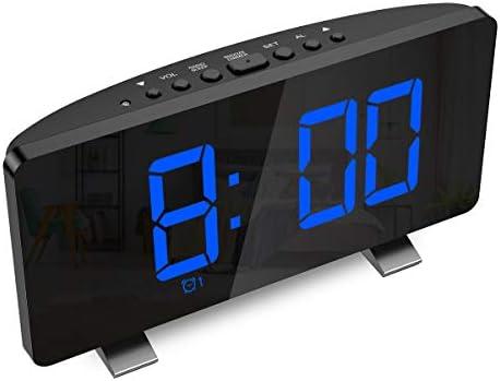 KeeKit 2020 New Digital Radio Alarm Clock, Large 7.3 LED Display Alarm Clock for Bedroom with FM Radio, Dual Alarms, Snooze, USB Port for Charging, 4 Brightness, Automatic Dimmer for Kid, Senior