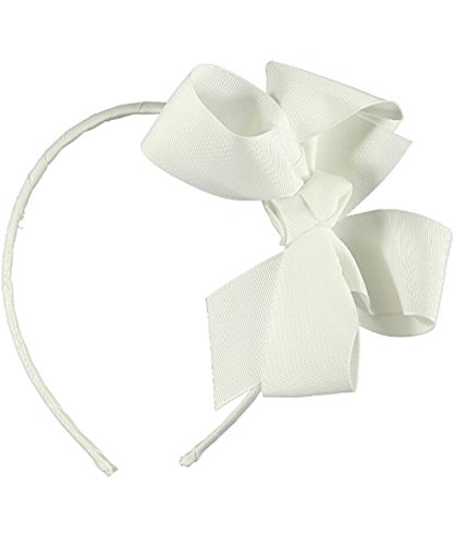 School Girl Accessories (School Uniform Large Bow Headband - white, one size)